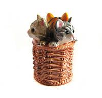 Наперсток сувенирный Котятат в корзинке