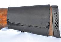 Патронташ на приклад на липучке 6 патронов кожа Ретро, фото 1