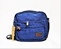 Мужская тканевая сумка синего цвета GGG-768514, фото 1
