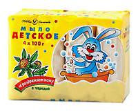 Туалетное мыло Невская Косметика Детское с чередой 4 х 100 г - 400 г.