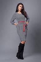 Платье мод №272-3, размеры 54. бело-серое (А.Н.Г.)