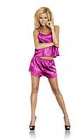 Атласная пижама розовая