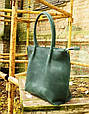 Жіноча зелена шкіряна сумка Shopper Babak 894077, фото 2