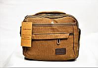 Мужская тканевая сумка коричневого цвета GGG-768516