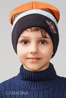 Стильная детская шапка для мальчиков Хай Уни, размер 54-56 см