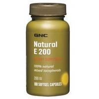 GNC NATURAL VIT E 200 IU, 100 caps