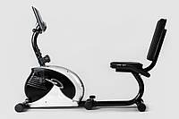 Горизонтальный велотренажер Hop-Sport HS-65R VEIRON silver/black