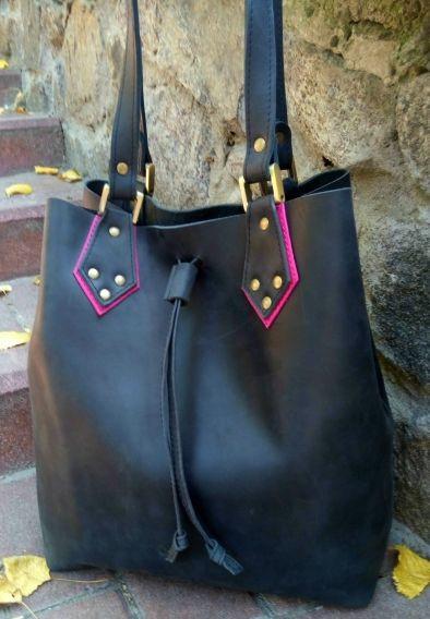 Кожаная сумка-мешок Babak 883076