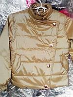 Демисезонная куртка-ветровка + жилет на девочку 116,122р