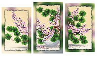 Схема для вышивки бисером , на холсте (модульный триптих)