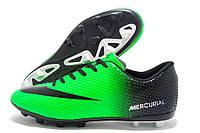 Копы мужские Nike Mercurial Walked зеленые с черным (найк меркуриал)