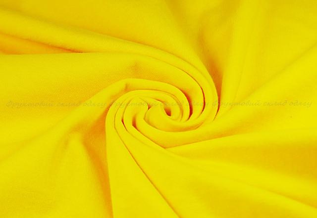 Ярко-жёлтая детская классическая футболка для мальчиков