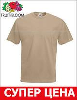 Мужская Футболка Классическая Fruit of the loom Хаки 61-036-3m L, фото 3