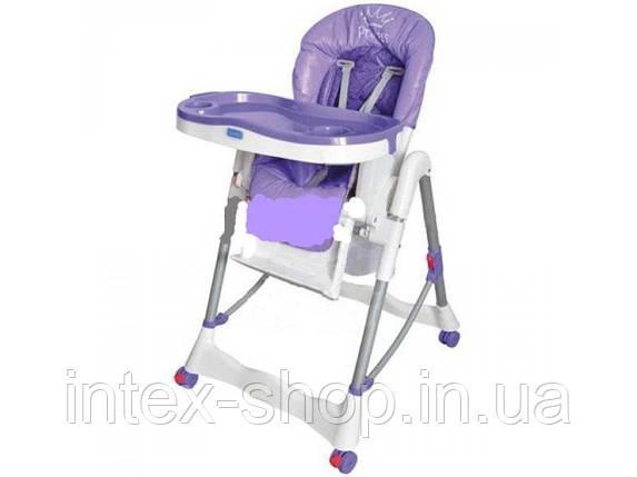 Стульчик RT 002-9 для кормления, корзина, колеса, фиолетовый , фото 2