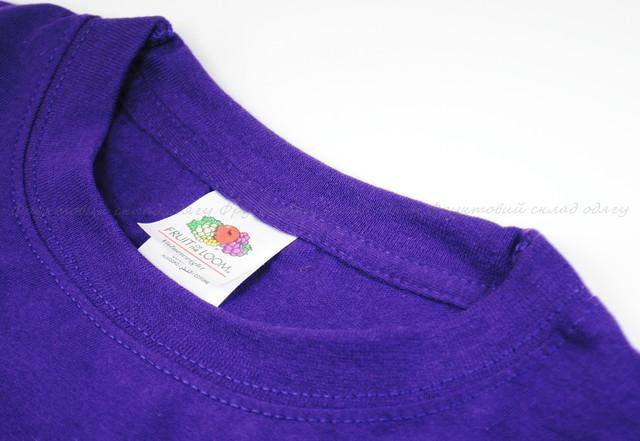 Фиолетовая мужская классическая футболка