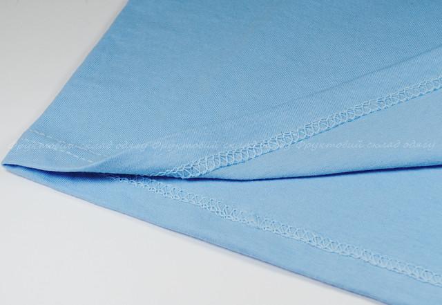 Небесно-голубая детская классическая футболка для мальчиков