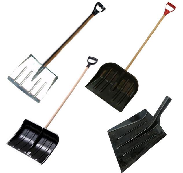 Лопаты снеговые, зерновые