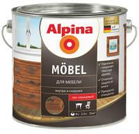 Лак мебельный Alpina Aqua Möbel /глянцевий, 2,5 л.