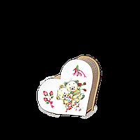 """Шкатулка сердечко """"Влюбленные мишки"""" маленькая"""