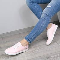 Кеды женские Lacoste розовые, мокасины женские осенняя обувь