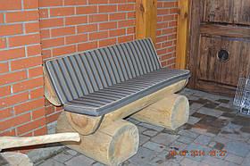 Пошив подушек на садовую скамейку