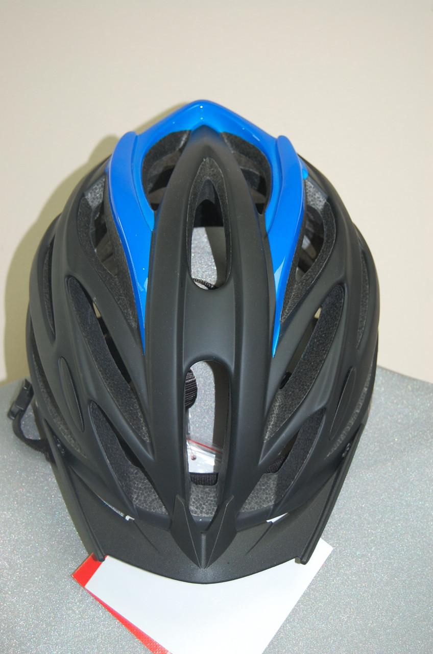 Велошлем ZeroRH+ Helmet TwoinOne matt BLACK-SHINY blue, L/XL (MD)