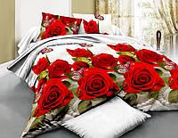 Двуспальный набор постельного белья 180*220 из Ранфорса №228 Черешенка™