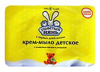 Детское крем-мыло Ушастый нянь с оливковым маслом и ромашкой 4 х 100 г - 400 г.