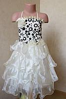 Нарядное платье для девочек украшеное цветами