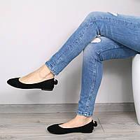 Балетки женские Lady черные, обувь женская
