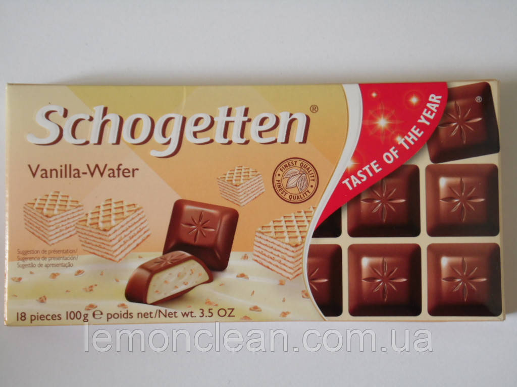 Шоколад Schogetten Vanilla-Wafer 100г