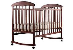 Детская кроватка Наталка ОТ на полозьях ольха темная