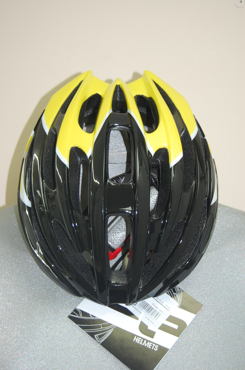 Велосипедный шлем ZeroRH+ Helmet Bike Road 1 SHINY BLACK-SHINY yellow (MD)