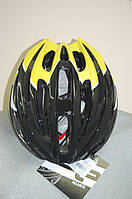 Велошлем ZeroRH+ Helmet Bike Road 1 SHINY BLACK-SHINY yellow (MD)