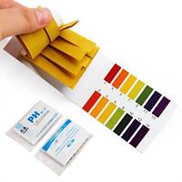 Лакмусовая бумага 80 шт. (тест pH) для определения кислотно-щелочного показателя жидкой среды.