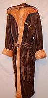 Однотонный махровый халат для мужчин по выгодным ценам