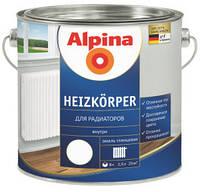 Эмаль для радиаторов Alpina Aqua Heizkörper, 2,5 л., 2,5 л. 0.75