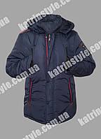 Мужская весенняя куртка синего цвета