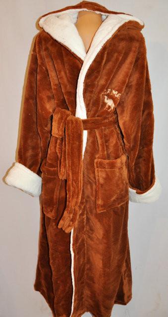 Мужской махровый халат для дома CAMEL