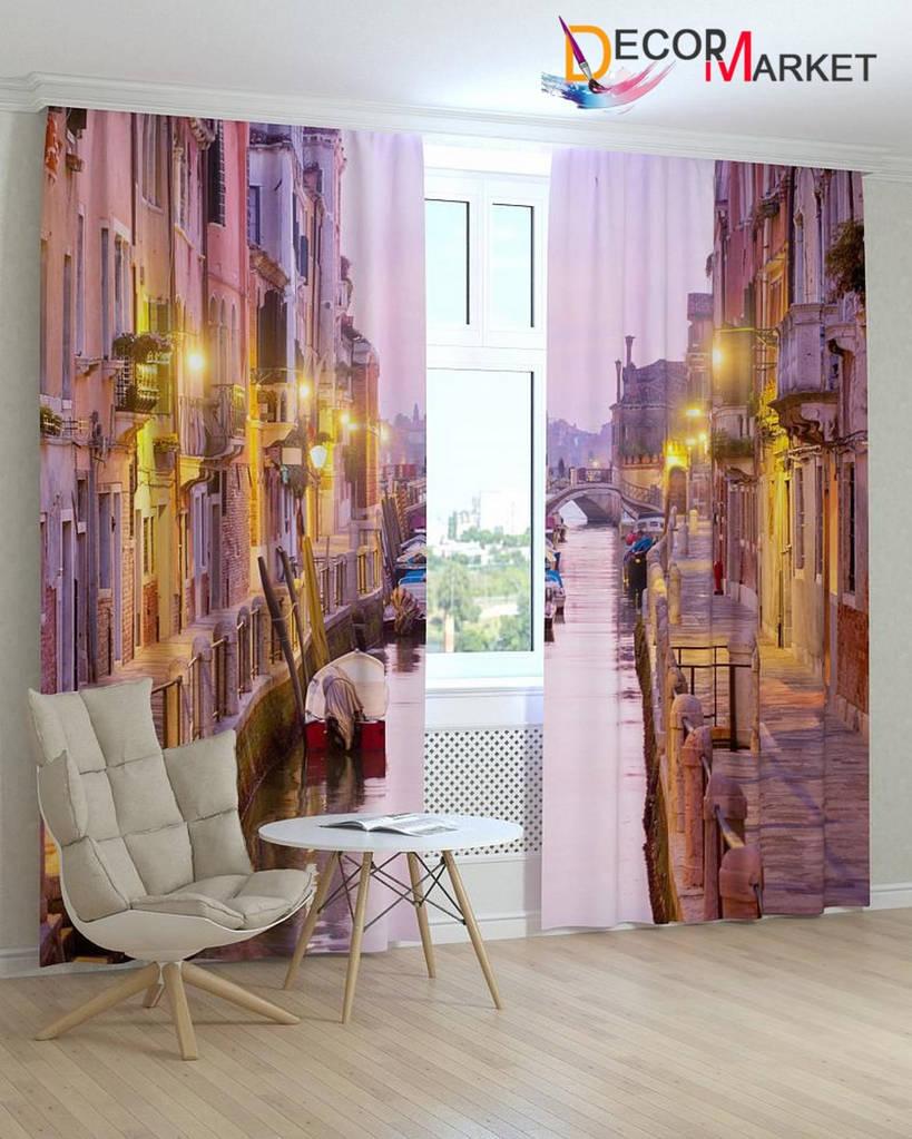 Фотошторы фиолетовая Венеция