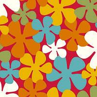 Детский линолеум  Flower Power 427M (Цветы на терракотовом фоне)