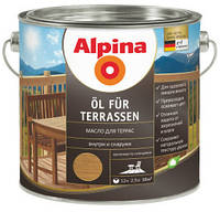 Эмульсия натуральной олифы Alpina Oel Terrassen Hell, 2,5 л.
