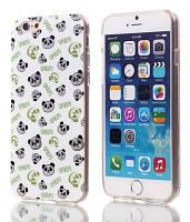 Чехол силиконовый для iphone 6 - принт Панда