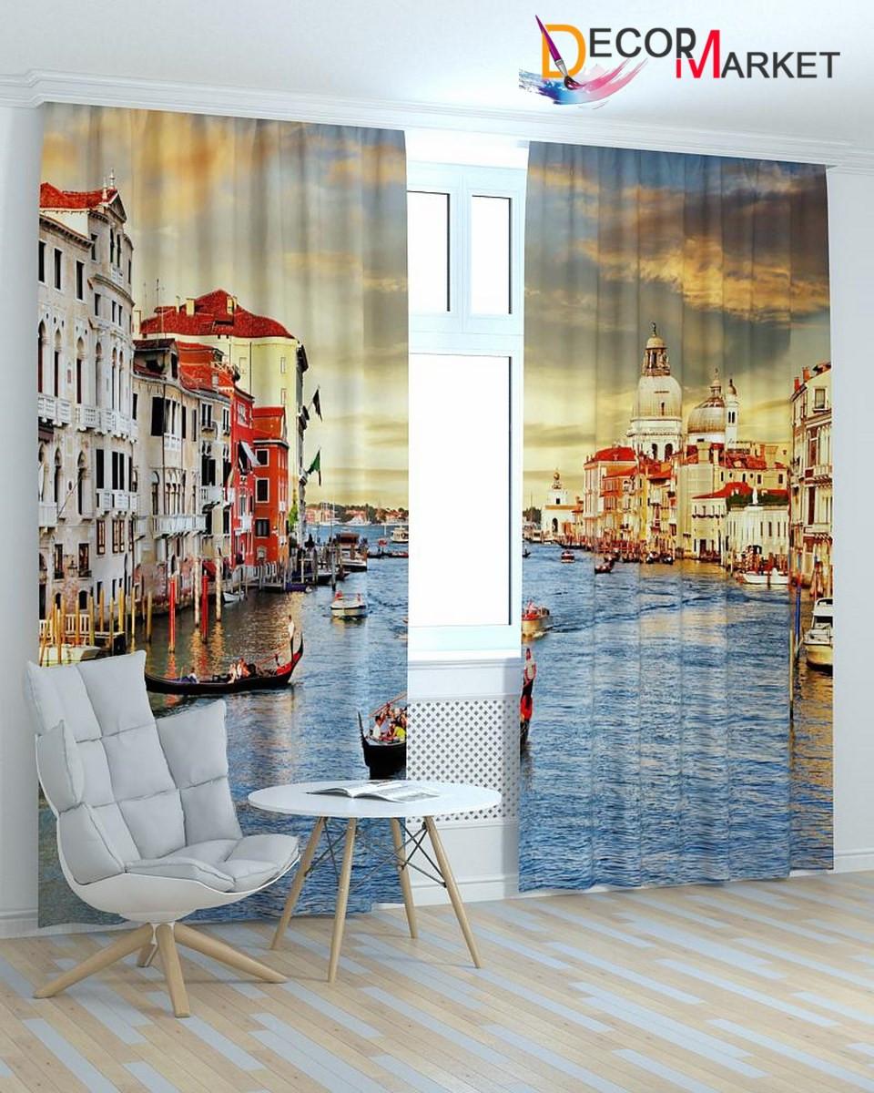 Фотошторы закат Венеция