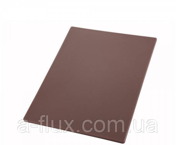 Доска разделочная пластиковая коричневая 510*380*13 мм