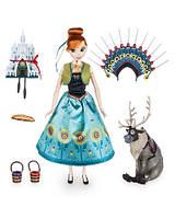 Поющая кукла Анна Холодное торжество Anna Singing Doll Set Frozen Fever