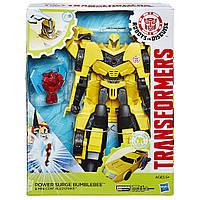 Трансформер Бамблби с миниконом Transformers Hasbro Роботы под прикрытием: Заряженные Герои , фото 1