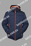 Куртка мужская весенняя с контрастными замками