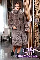 Женское батальное зимнее пальто (50-62) арт. 715 Sanaz- C Тон 105