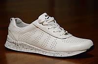 Кроссовки натуральная кожа Nike найк женские белые весна лето реплика (Код: 309а), фото 1